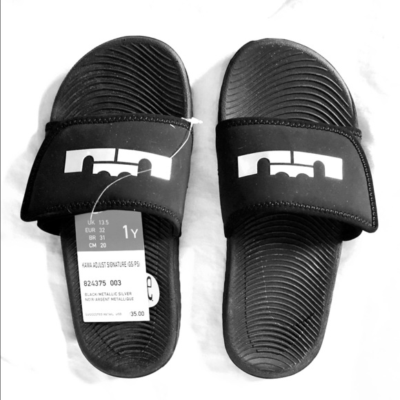 meet 2ea5d 6a2e0 Kids Nike LeBron James Slides